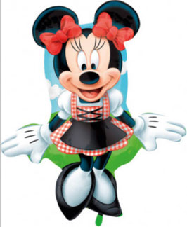 Folienballon Minnie im Dirndl