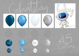 "Ballon - Girlanden - Set: Geburtstag ""Astronaut"""