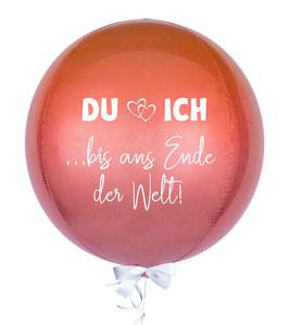Kugelballon Orbz: Du & Ich ... bis ans Ende der Welt!