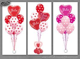 Herzchen-Luftballon-Bouquet personalisiert