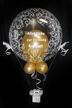 Heißluftballon - Geschenkballon - zur Kommunion Firmung Jugendweihe