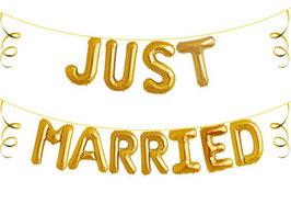 """Ballon Buchstaben Schriftzug """"Just Married"""""""