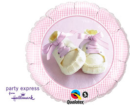 Folienballon Baby Shoes Girl