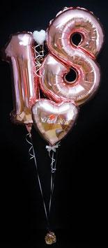 Ballon Zahlen mit personalisiertem Herz