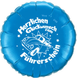 Folienballon Herzlichen Glückwunsch zum Führerschein