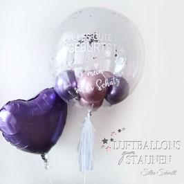 Geschenkballon Konfetti-Bubble mit Personalisierung