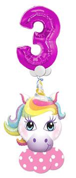 Luftballon Bouquet  für Mädchen mit großer Zahl