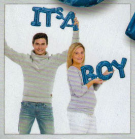 """Ballon Buchstaben Schriftzug  """"Its a Boy"""" """"Its a Girl"""""""
