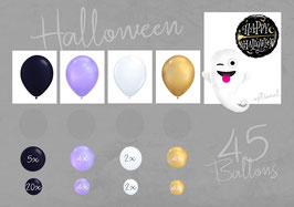 Ballon - Girlanden - Set:  HAPPY HALLOWEEN