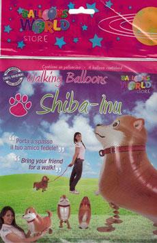 Airwalker: Tier-Luftballon Hund Shiba-inu unbefüllt