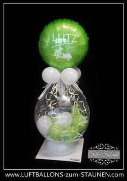"""personalisierter Geschenkballon """"Happy Birthday"""" für Geld oder Gutschein"""