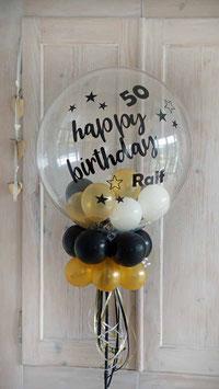 """Geschenkballon - Geldgeschenk - Bubble-Ständer """"Happy Birthday"""""""