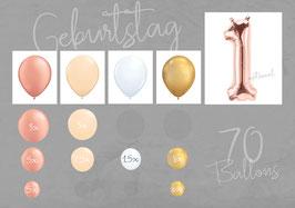 """Ballon - Girlanden - Set: Geburtstag """"Boho"""""""
