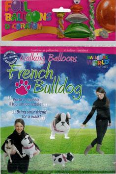 Airwalker: Tier-Luftballon Hund Bulldogge unbefüllt
