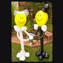 großes Luftballon-Brautpaar