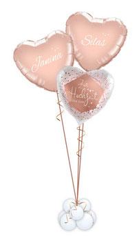 Bouquet 3 Herzen: Zur Hochzeit alles Gute