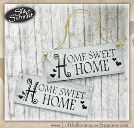 "Holzschild ""Shabby-Look"": ""HOME SWEET HOME"""