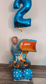 Luftballon Bouquet  versch. Fahrzeuge mit großer Zahl