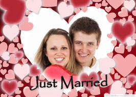 "Weitflugkarte ""Just Married"" inkl. Druckservice"