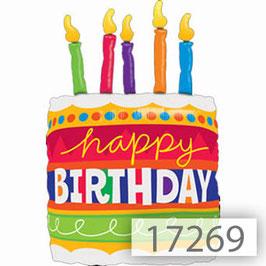 Folienballon Happy Birthday mit Zahl