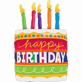 Ballon Geburtstag: 17269 Birthday Cake und Candles Torte
