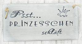 """Holzschild """"Shabby-Look"""": """"Psst...PRINZESSCHEN schläft"""""""
