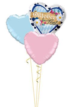 Ballon - Bouquet mit Herz: Oktoberfest