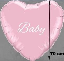 Luftballon -Folienballon großes Herz mit Namen