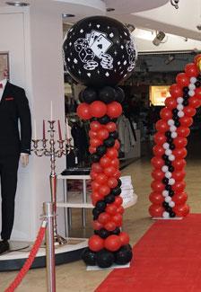 Ballonsäule Casino mit Riesenballon