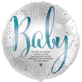 """Folienballon Baby Junge: """"Du bist so winzig klein..."""""""