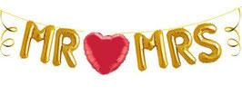 """Ballon-Schriftzug """"Mr & Mrs"""" inkl. Herz"""