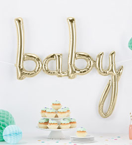 """Ballon Buchstaben Schriftzug  """"baby"""""""