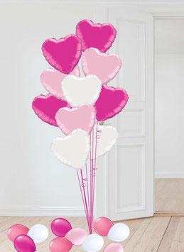 Folien-Herzen 5-10 Stück inkl. Heliumfüllung