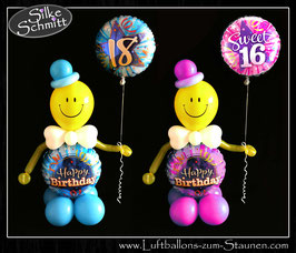 Happy Birthday Luftballon-Smiley