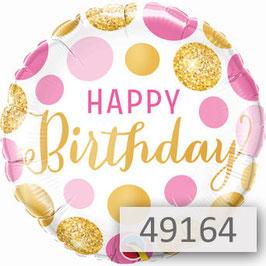 Geburtstagszahl mit Helium-Luftballon und Rose