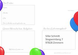 Weitflugkarten inkl. Druckservice