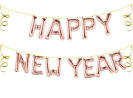"""Ballon Buchstaben Schriftzug """"HAPPY NEW YEAR"""" Silvester Neujahr"""