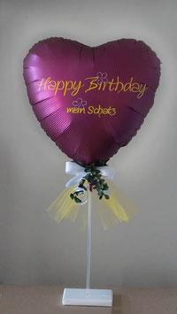 Herz - Luftballon - Ständer personalisiert