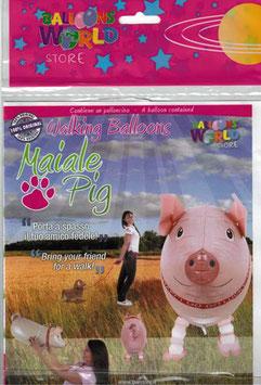 Airwalker: Tier-Luftballon Glücks - Schwein unbefüllt
