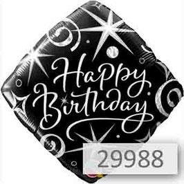 """Luftballon - Geld - Arrangement Happy Birthday mit Zahl im """"Organic-Style"""""""