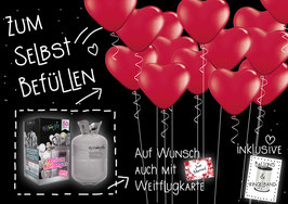PARTY-SET (Helium/Ballongas + Luftballons): HOCHZEIT