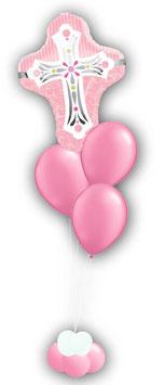 Luftballon-Bouquet Kreuz Kommunion Firmung Jugendweihe