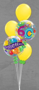 Luftballon Bouquet  mit Bubbles Happy Birthday