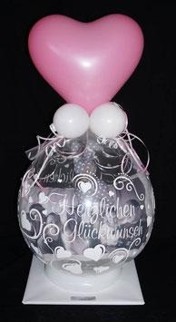 """Geldballon oder Verpackungsballon """"Herzlichen Glückwunsch"""""""
