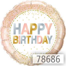 Ballon Zahlen mit Happy Birthday Gruß