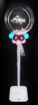 Bubble-Ballon Kommunion Firmung Jugendweihe auf Ständer