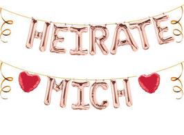 """Ballon Buchstaben Schriftzug """"Heirate mich"""""""