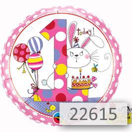 Luftballon-Bär mit Blumenstrauß und Geburtstagszahl