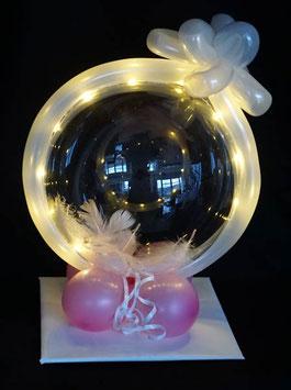 kleiner Geschenkballon mit Schleife - Geldgeschenk zur Kommunion Firmung Jugendweihe