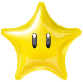 NINTENDO Super Star Folienballon transparent